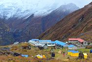 Stock Photo of annapurna base camp, nepal