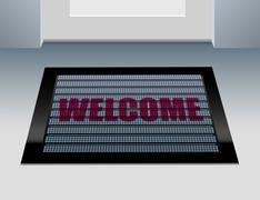 Doormat Welcome - stock illustration