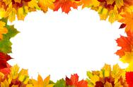 Stock Illustration of colorful autumn maple leaves card for your text