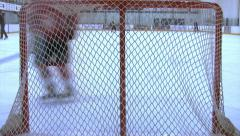 Ice Hockey - Male Training - 15 - Forwards Attack - Shots On Goal - Behind Net Stock Footage