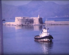 SUPER8 traditionnal antic greek harbor - stock footage