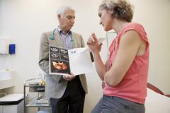 gynecology consultation - stock photo
