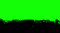 Football fans on green screen. - stock footage