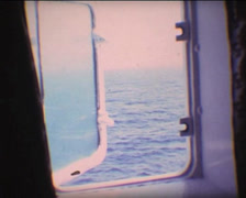 SUPER8 view by boat window Stock Footage