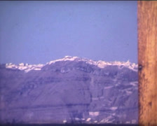 SUPER8 GREECE traditional greek village from a boat - 1978 Stock Footage