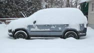 Stock Video Footage of Winter SUV.