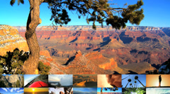 CG montage USA National parks travel destination holiday canyonlands lifestyle Stock Footage