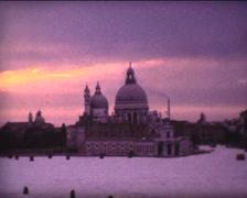 SUPER8 ITALY Venice basilica Santa Maria della Salute Stock Footage