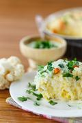 vegetable rice casserole - stock photo