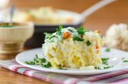 Stock Photo of vegetable rice casserole