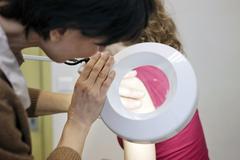 Stock Photo of dermatology, symptomatology, woman