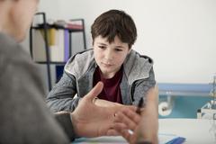 child psychology - stock photo