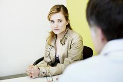 woman psychology - stock photo