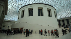 British Museum - Great Court Timelapse Stock Footage