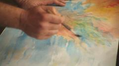 painter was upset - stock footage
