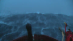 Storm Waves at Dusk - Dawn Stock Footage