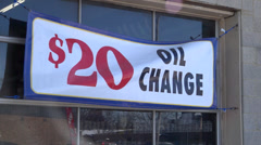 $20 Oil Change sign Stock Footage