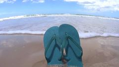 Flip Flops Knocked Over Stock Footage