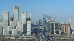 China, Beijing, Central Business District Stock Footage