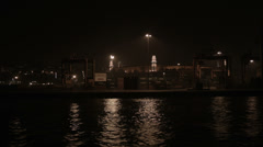 Ship Port Night Time Stock Footage