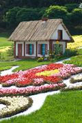 fairytale cottage (kiev, ukraine, the singing field) - stock photo