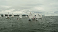 Stock Video Footage of Sailing Regatta. Vladivostok Harbor