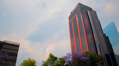 Buildings of Reforma Av. in Mexico City Stock Footage