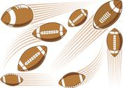Stock Illustration of flying american football ball