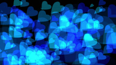 Blue Hearts HDVAL11006 Stock Footage