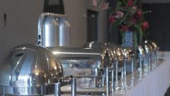 Banquet Catering Buffet Focus Rack Stock Footage