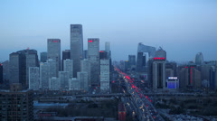 China, Beijing, Central Business District - stock footage
