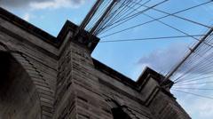 Brooklyn Bridge (NYC). Stock Footage
