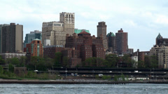 View over East River to Brooklyn. NYC. Stock Footage