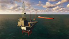 Offshore Oil Drilling Stock Footage