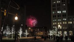Fireworks Downtown Stock Footage