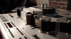 Studer Reel to Reel 3 Stock Footage
