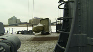 Stock Video Footage of Ship's deck of the cruiser Aurora 2.7K.