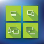 internet service provider icons, eps 10 - stock illustration