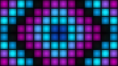 Colorful Rush Strobe Lights Blinking Box Light Stage Vj Loop Stock Footage