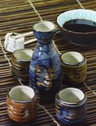 Sake set Stock Photos