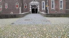 Castle with Cobblestones (Camera Tilt Up) Stock Footage