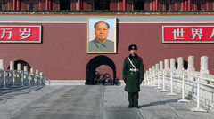 Tiananmen Square, Beijing, China Stock Footage