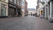 Stock Video Footage of European Cobble Stone Walking Street