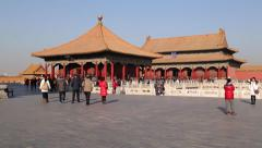 Beijing, Forbidden City, Imperial Palace, Palace Museum, UNESCO Site - stock footage