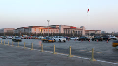 Tiananmen Square, Beijing, China Stock Footage