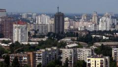 Stock Video Footage of Kiev city for high angle