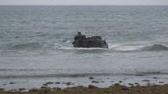 US - Army - Landing Tanks 02 Stock Footage