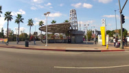 Stock Video Footage of Metro Rail Station In East Los Angeles California