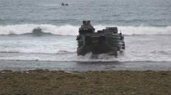 US - Army - Landing Tanks 04 Stock Footage