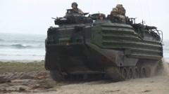 US - Army - Landing Tanks 08 Stock Footage